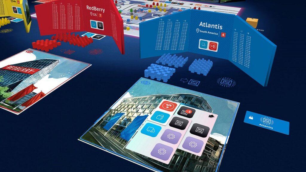 Игровое поле настольной игры Smartphone Inc. Источник: anyohowgames.com